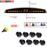 KOORINWOO Car Parking Sensors 6 Sensors 22mm Backup Radar Detector 2 Front Parking Sensors Back Parktronics