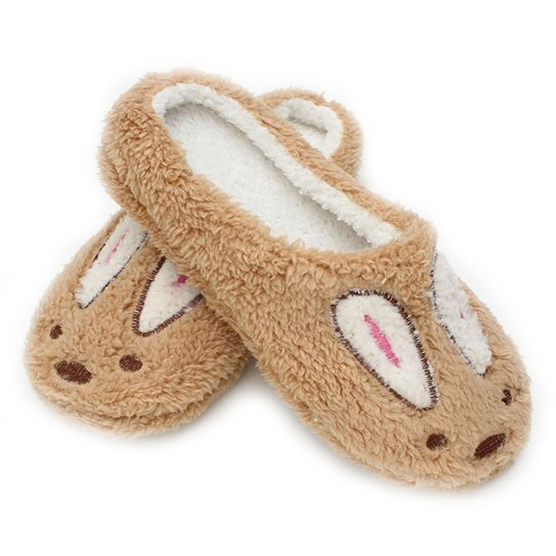 Autumn Winter Men Slippers Corduroy Warm Couple House Shoes Cute Rabbit Soft Plush Women Home Slippers Indoor Shoes Pantuflas