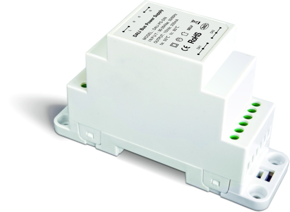 DALI-PS-DIN;DALI Bus Power supply(DIN Rail);100-240VAC 50/60Hz input; ltech dali ps din dali bus power supply din rail 100 240vac 50 60hz input 15vdc 200ma output dali dimming driver for led lights