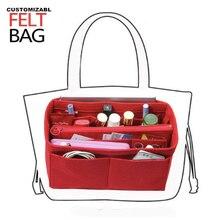 Fits Speedy25-40 Neverful keepall,Melie,Felt Insert Bag Organizer Purse Handbag in w/Detachable Zip Pocket
