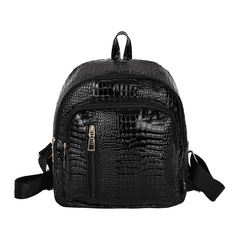 Small Backpack Female Soft Pu Leather Backpacks For Women Black Gold Silver Travel Backpack School Bags For Teenage Girls