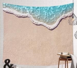 Image 3 - CAMMITEVER tapiz de elefante indio de mar azul, estampado de colores, decoración de Mandala, Alfombra de pared Bohemia, esterilla de tela de playa