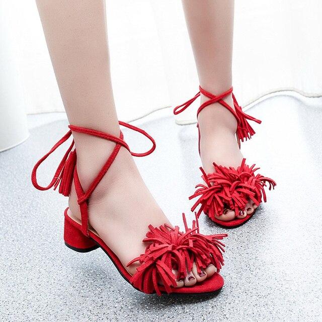 4c9dd5f34a2 Lotus Jolly Block Heel Sandals 2017 Women Tassel Fringe Pumps High Heels  Summer Casual Shoes Woman Sandalias Zapatos Mujer