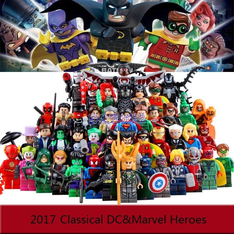 DR TONG 2017 Batman Movie Super Heroes Firgures Batman Iron MAN Deadpool Avengers Harley Quinn JOKER