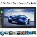 Nueva llegada 2 Din 7 ''pulgadas LCD de pantalla Táctil de coches radio jugador de apoyo BLUETOOTH manos libres 1080 P película cámara de visión trasera del coche audio