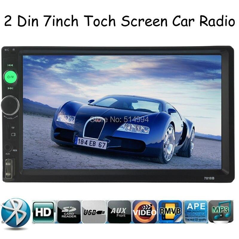 ⑥Nueva llegada 2 Din 7 \'\'pulgadas LCD pantalla táctil reproductor ...