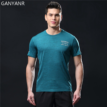 GANYANR Running T Shirt Men Basketball Tennis Sportswear Tee Sport Fitness Gym Jogging Tops Slim Fit quick dry Exercise Training