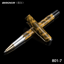 Baoer 801 Yellow Black point Wild fashion Business Medium Nib Roller ball Pen New Writing Supplies Office