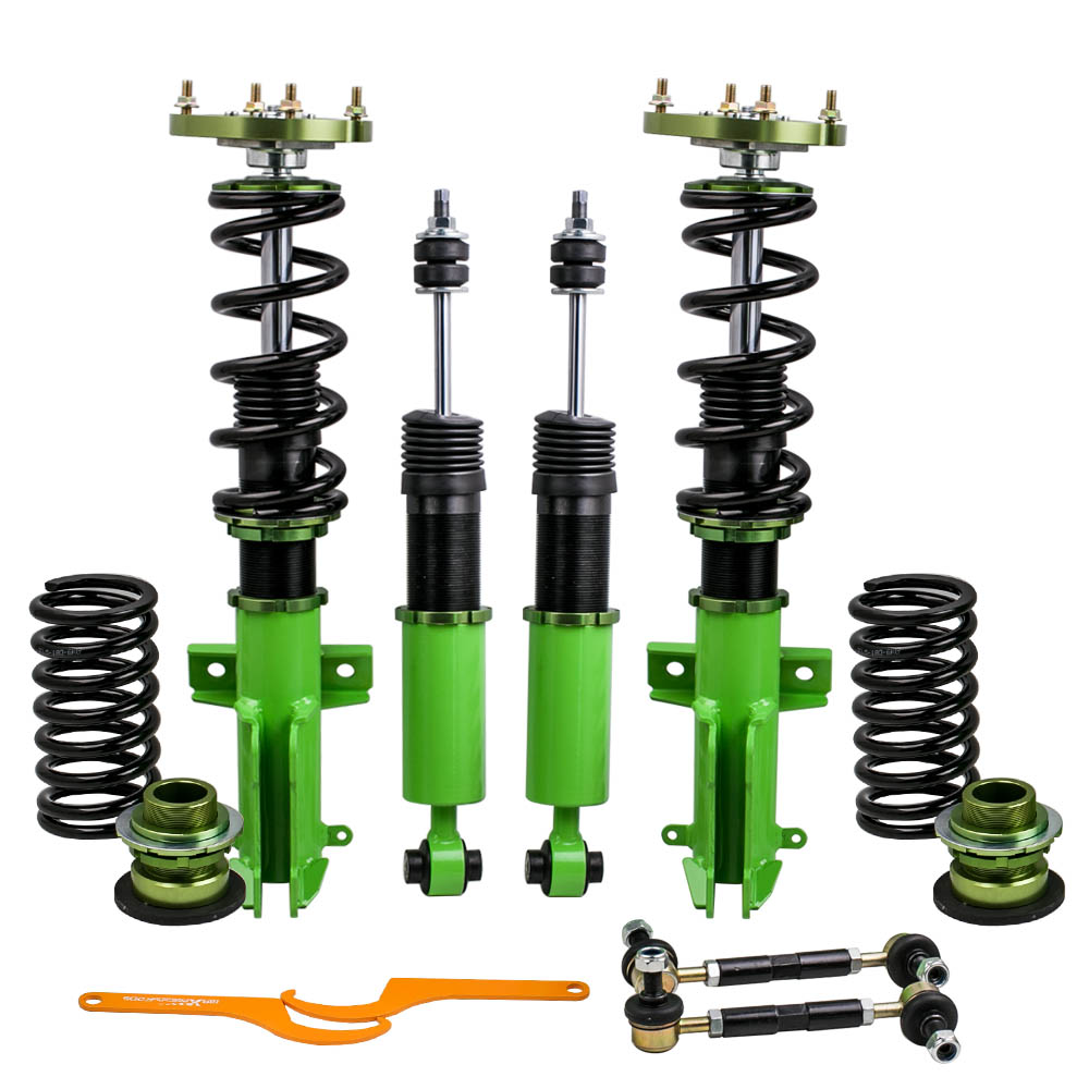 Coilovers Suspension Kits for Ford Mustang 4th 05 06 07 -14 Adj. Height & Mounts Coilover Shocks Absorber Suspensions