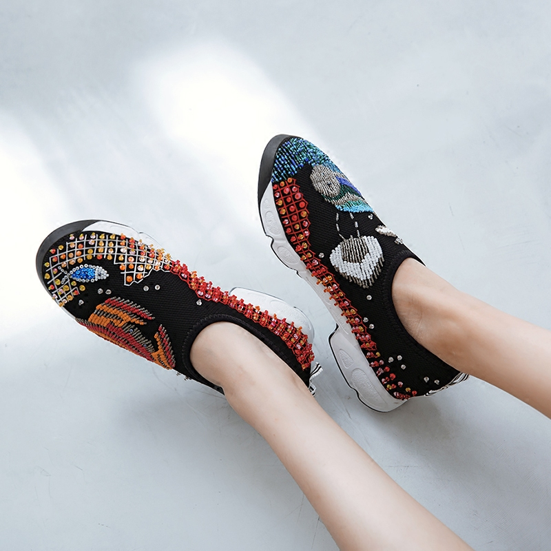 Show New Casual Broder Femmes Bling Mujer as Zapatos Feminino Dames Sneakers Mode Sapato Mixte Chaude Appartements Show Chaussures As Couleur Confortables qP1UfwxI0