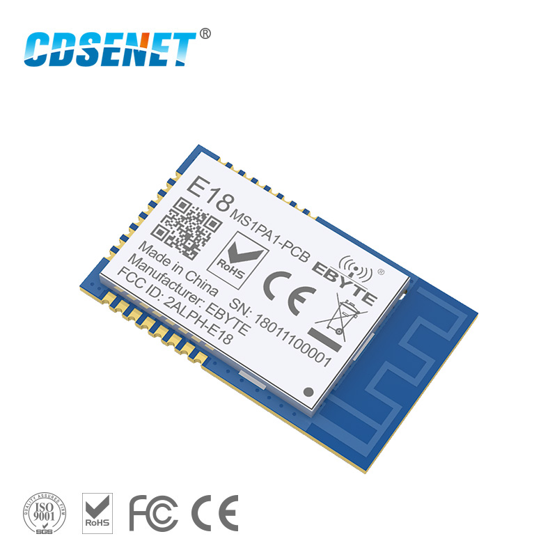 1pc 2.4GHz ZigBee Network CC2530 Wireless rf Module E18-MS1PA1-PCB SMD 2.4 ghz pa rf Transmitter Receiver with PCB Antenna image