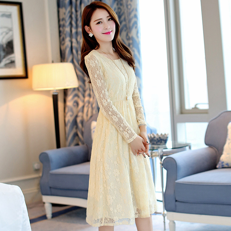 Korean long sleeve dress