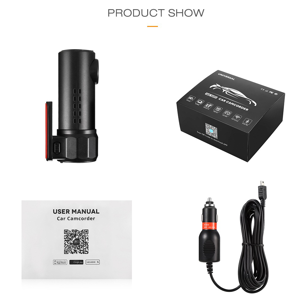 Image 5 - 170 Degree Wide Angle Mini Night Vision Driving Recorder Wifi HD Car DVR Dash Cam 30 fps Car DVR Camera-in DVR/Dash Camera from Automobiles & Motorcycles