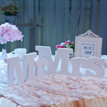 3PCS/Lot Romantic Wooden Letters Mr & Mrs Wedding Decoration Ornaments Home Birthday Party Supplies