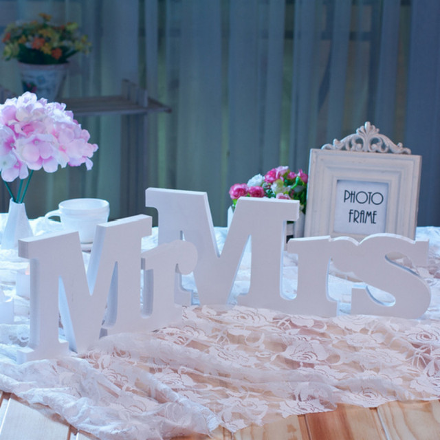 3pcslot romantic wooden letters mr mrs wedding decoration 3pcslot romantic wooden letters mr mrs wedding decoration ornaments home birthday party supplies junglespirit Gallery