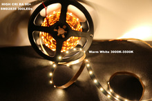 MARSWALLED High CRI RA 90+ LED Strip Lights 2835SMD 12V DC 5M 300leds Nonwaterproof Warm White 3500K Lighting for Holiday