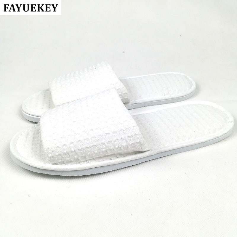 FAYUEKEY Wholesale 5pairs\lot Hotel Club Supplies Open-toed Not Disposable Hospitality Slippers Home Indoor Floor Guest Slippers