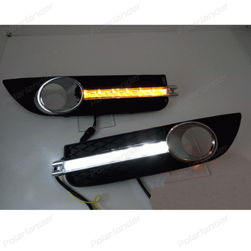 Car drl daytime running lights For B/uick R/egal 2008-2013 LED Headlights front fog lamp car accessory