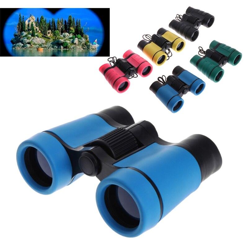 4x30 Plastic Children Binoculars Telescope For Kids Outdoor Games Toys Compact Children Binoculars Drop Shipping