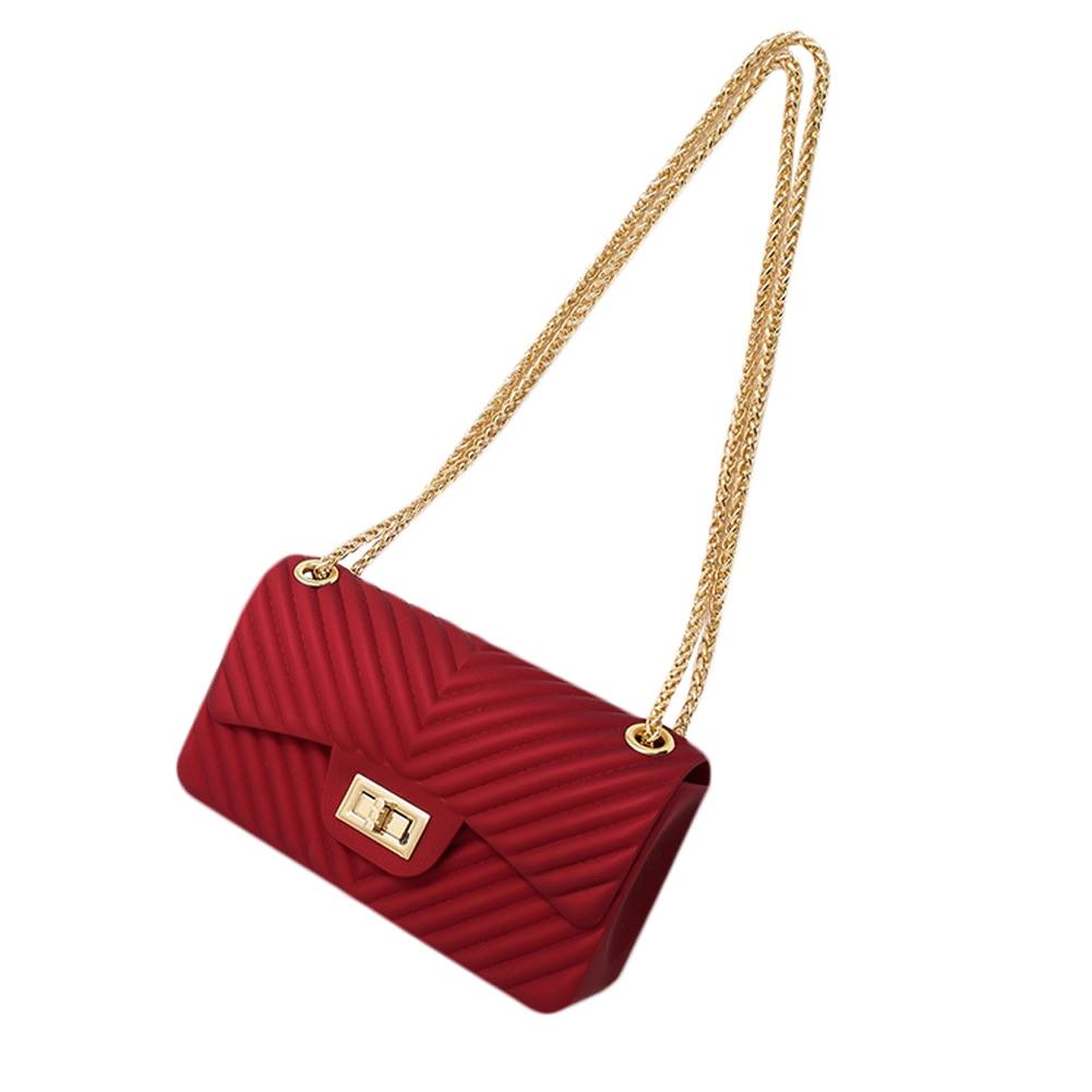 Matt Chain Burgundy Crossbody Bag For Women Shoulder Bag Messenger Purse  Summer Luxury Handbags Women Bags 51b7f0f9e30df