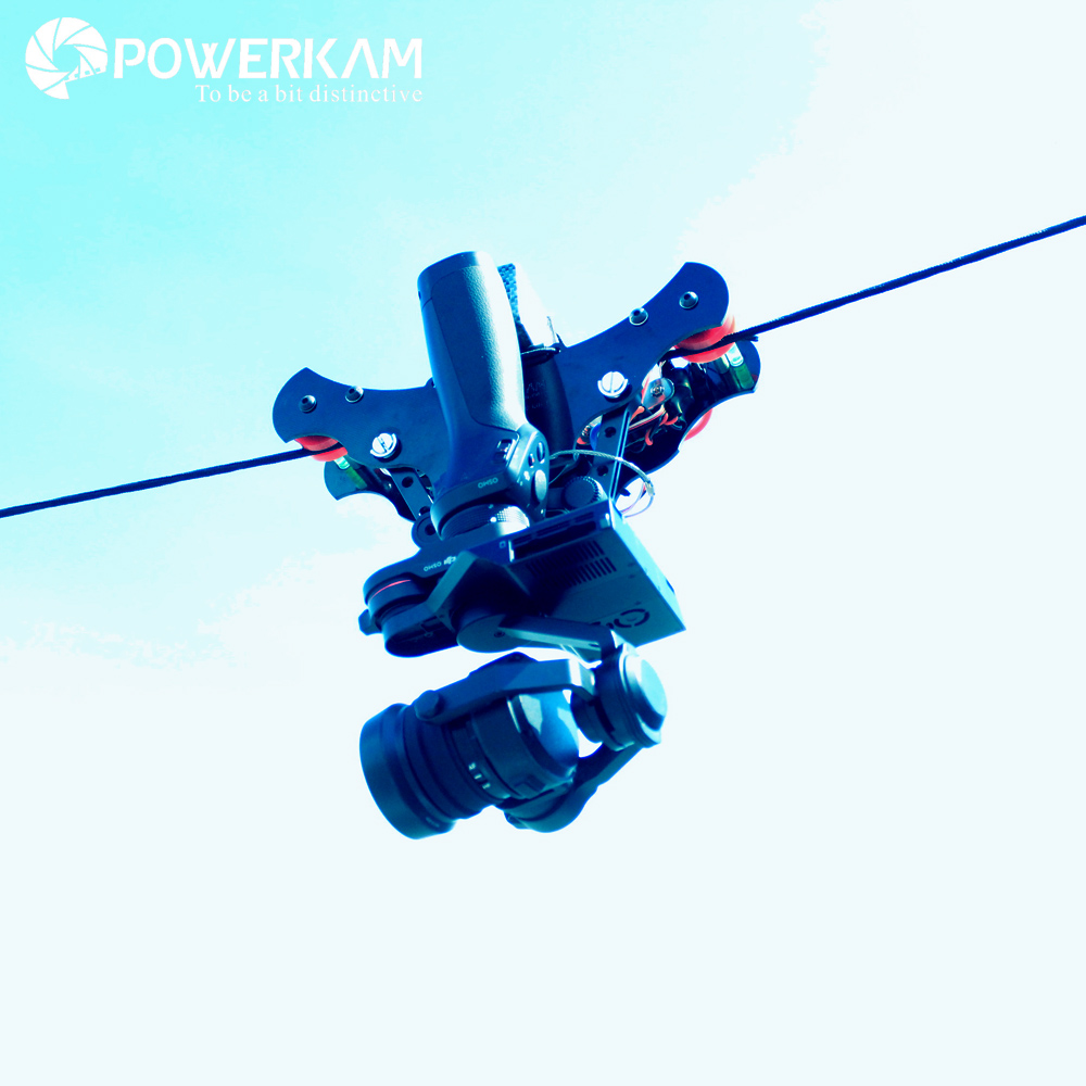 POWERKAM motorized slider Black T 1.5pro osmo cable car rc shooting equipment for DJI OSMO SERIES