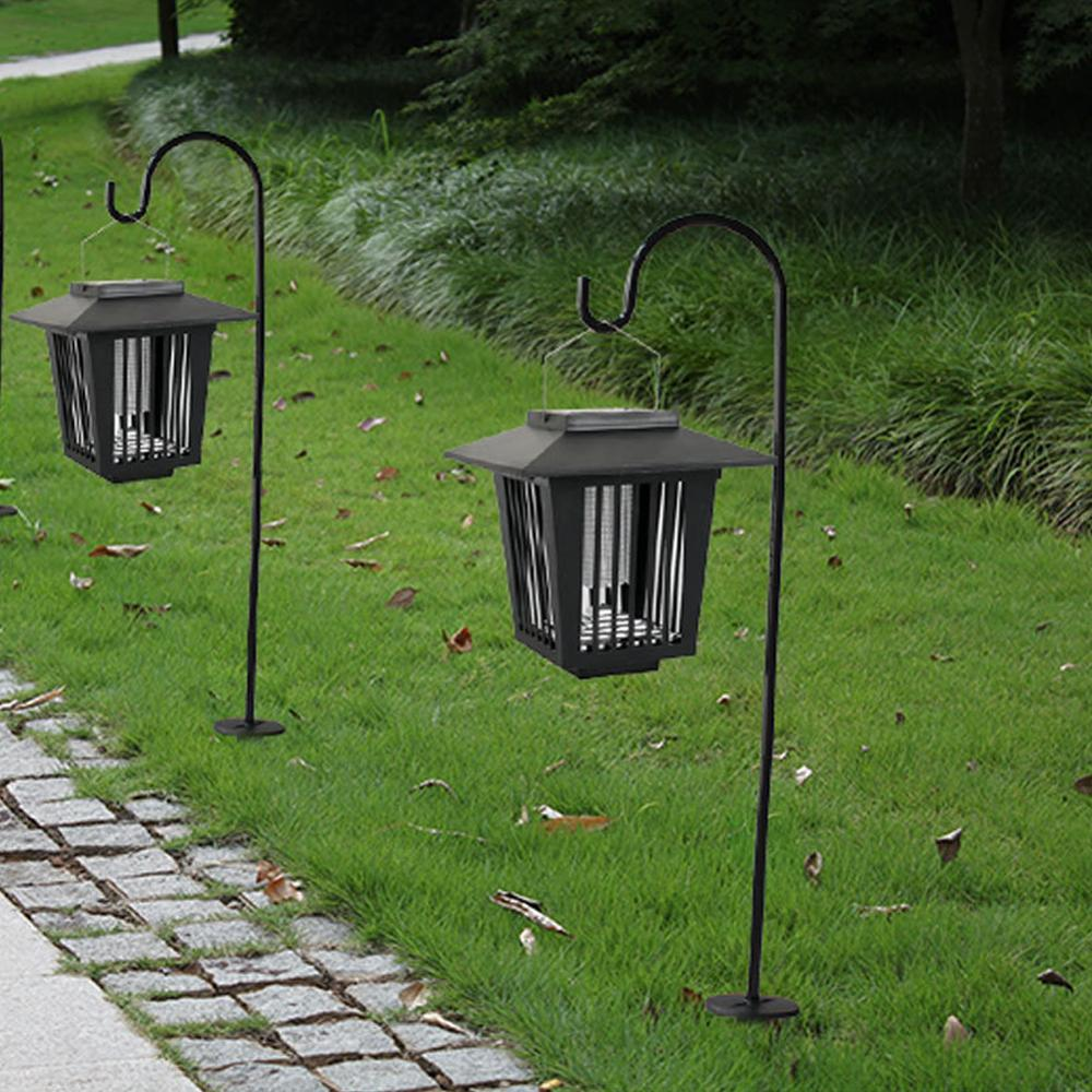 Mosquito Killer Solar Powered Lamp Light Flying Lawn Mosquito Killer Lamp Moths LED Light Garden Pest Control Courtyards Light