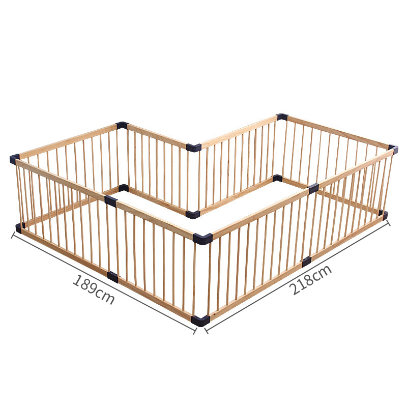 61cm Height Eco-friendly  Baby Game Fence Solid Wood Gate Baby Playpen Export No Smell Health Baby Fence  Many Size Send Gifts