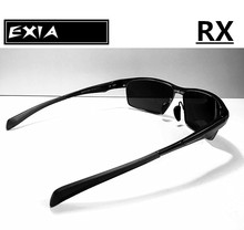 Single Vision Lenses Polarized Sunglasses Men Dark Grey Color of Lens Made by EXIA OPTICAL KD-180 Series