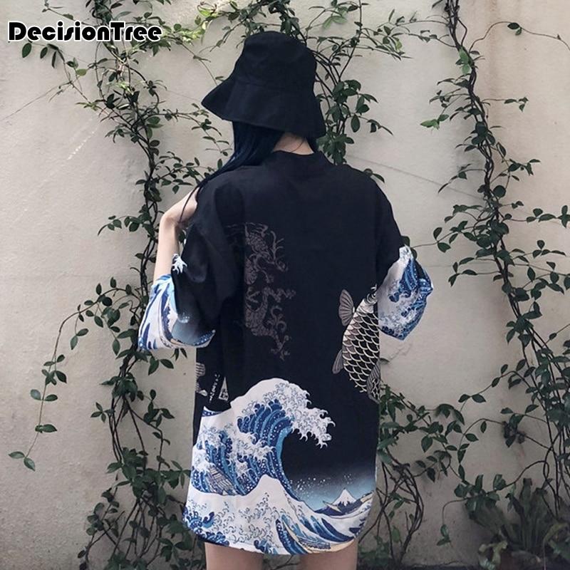 2019 Kimonos For Women Ladies Chiffon Cardigans Female Casual Blouses Baseball Jackets Vintage Jaqueta Feminina Casaco