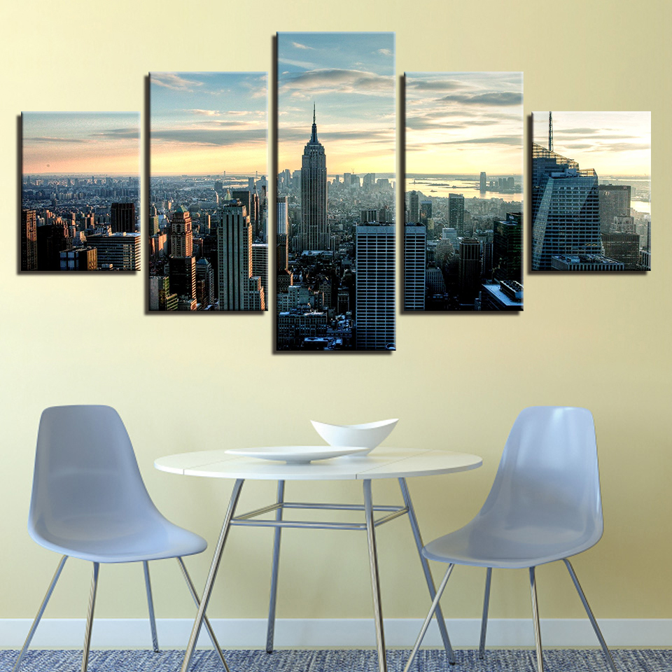 Modular Wall Art Canvas Paintings Home Decor 5 Pieces New