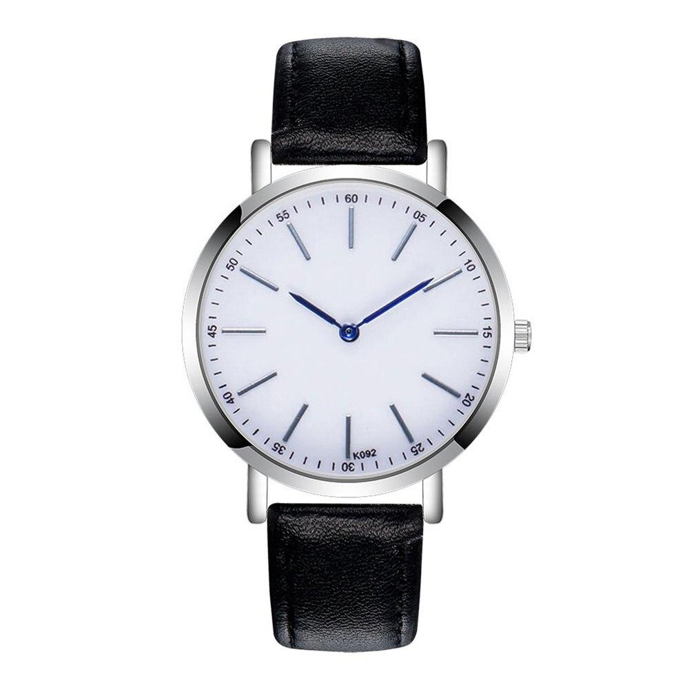 Fashion Trendcy Women Men Leather Band Quartz Analog Wrist Watch  Simple Design Hot Fashion Luxury Watch