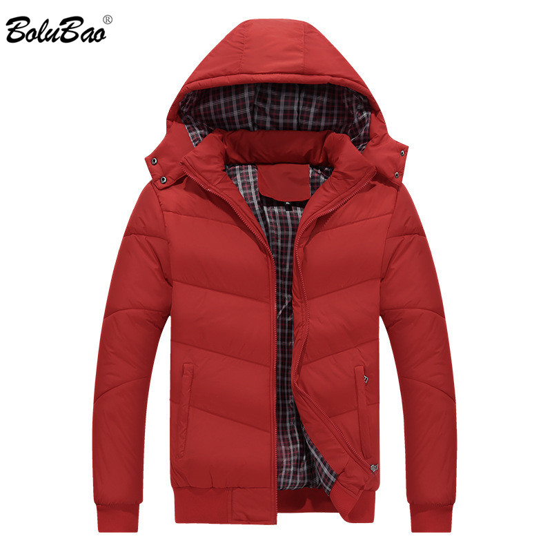 BOLUBAO Men   Parka   Brand New Classic Winter Warm Coat Casual Men Solid Color Winter Down Jackets Black Male Hooded   Parkas