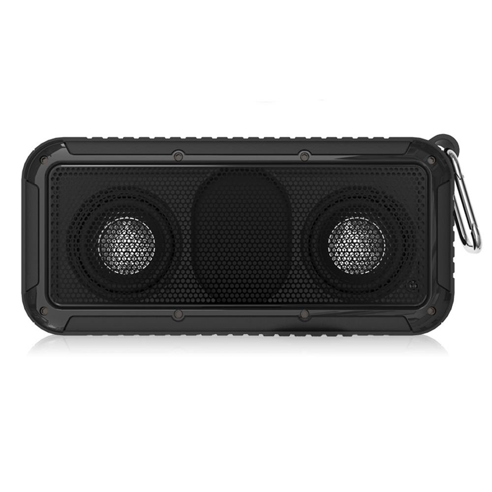 New Bee Outdoor Portable Waterproof Wireless Bluetooth Speaker with Microphone 3.5 Jack NFC Bicycle Mount LED Flashlight Hook