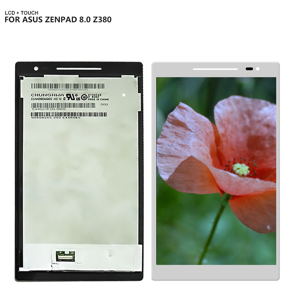 купить Free Shipping For ASUS Zenpad 8.0 Z380C Z380M Z380 LCD Display Touch Screen Digitizer Assembly Replacement по цене 2787.9 рублей