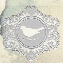 YaMinSanNiO Lace Hollow Dies Frame Metal Cutting for Craft Scrapbooking Card Making Embossing Die Cut Background Bird