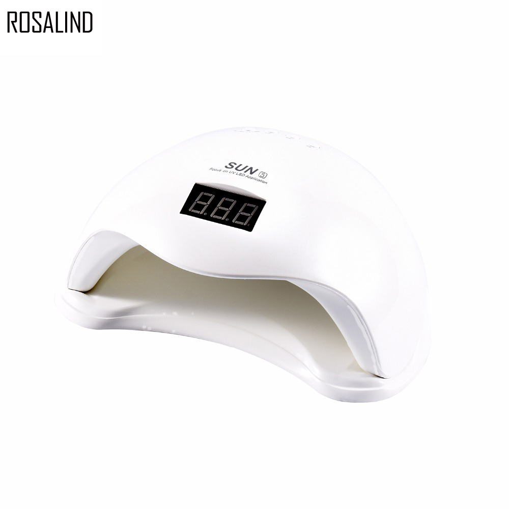 ROSALIND SUN5 48W Dual UV LED Nail Lamp Nail Dryer Gel Polish Curing Light with Bottom 30s/60s Timer LCD display sunuv sun5 48w nail dryer white dual uv led nail lamp nail dryer gel polish curing light with bottom 30s 60s timer lcd display