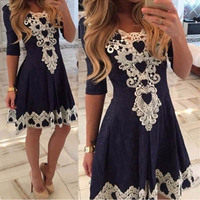 Summer Vestido De Festa Womens Evening Party Dresses V Collar Half Sleeve Sexy Night Club Woman