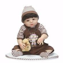 NPK pleine vinyle de silicone corps reborn baby poupées garçon doux silicone vinyle réel doux tactile bebe reborn nouveau né réel bébé