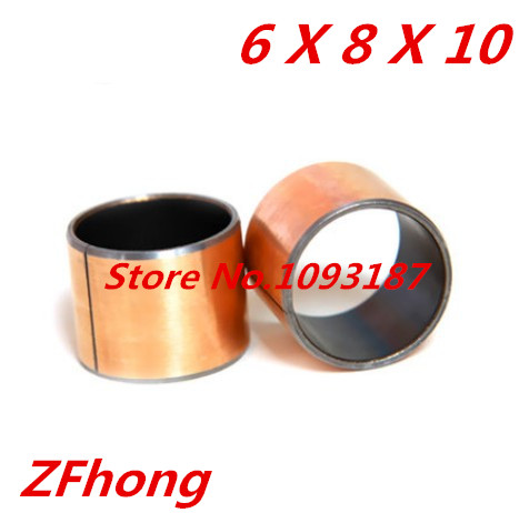 Buy SF-1  6*8 Self Lubricating Composite Bearing Bushing Sleeve length 10mm
