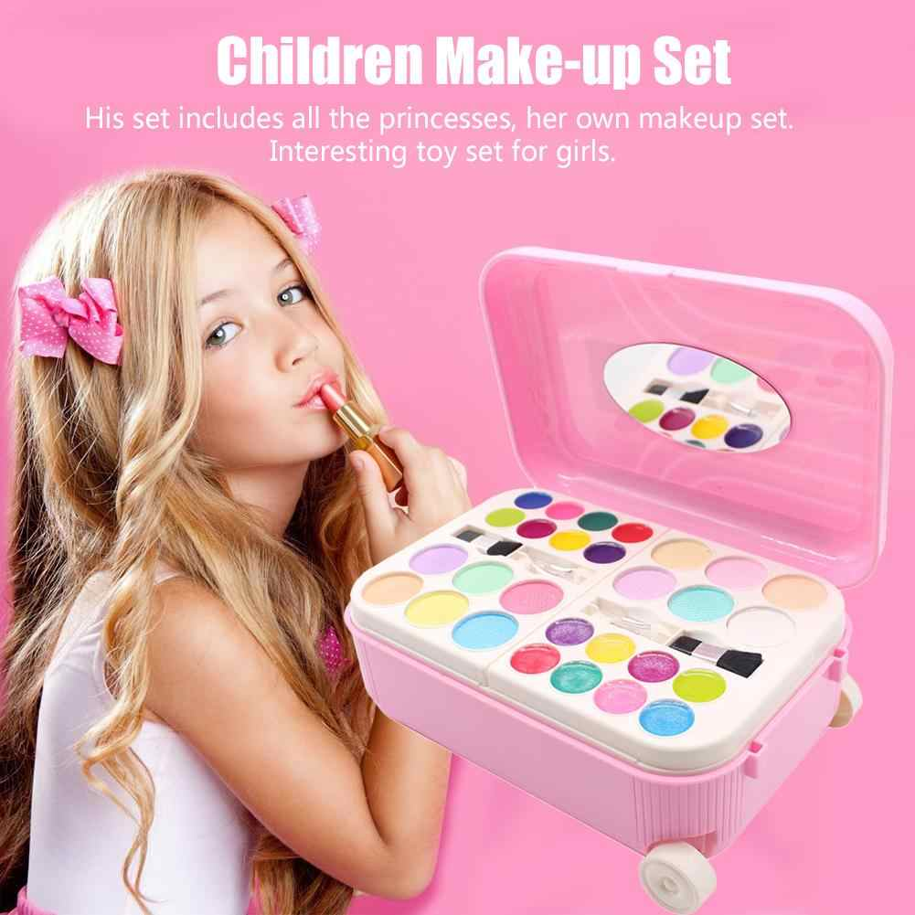 Princess Makeup Cosmetics Set Toy Nail Polish Make Up Kits Cute Play House Children Gift Suitcase Pretend Play Toy