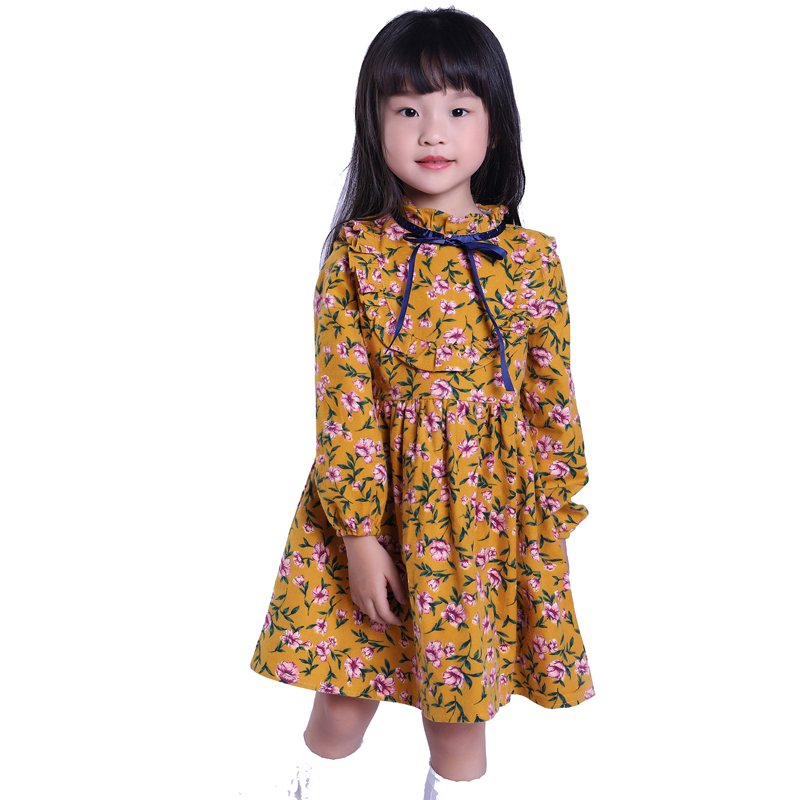 2-10Y Ladies Clothes Floral Woman Costume Cotton Lengthy Sleeve Kids Costume Classic Children Attire For Ladies