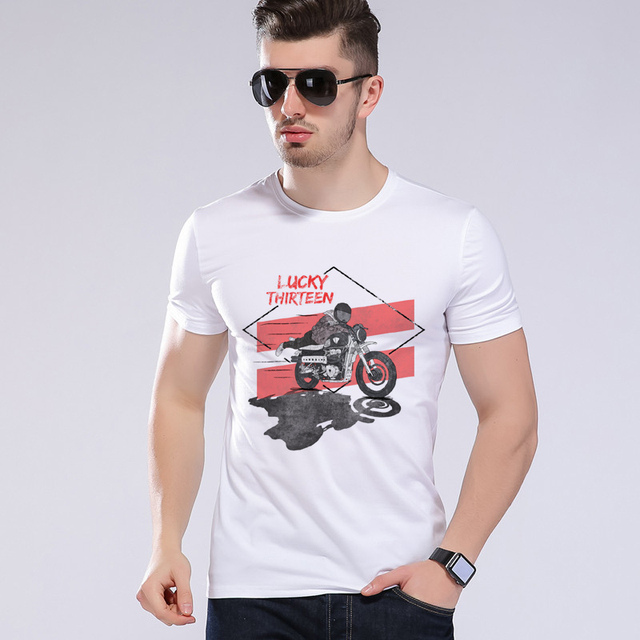 5f7154e5d Men Biker Victory Motorbike casual Holiday gifts Tshirt tee Private Custom  Motorcycles T shirt Brand clothing