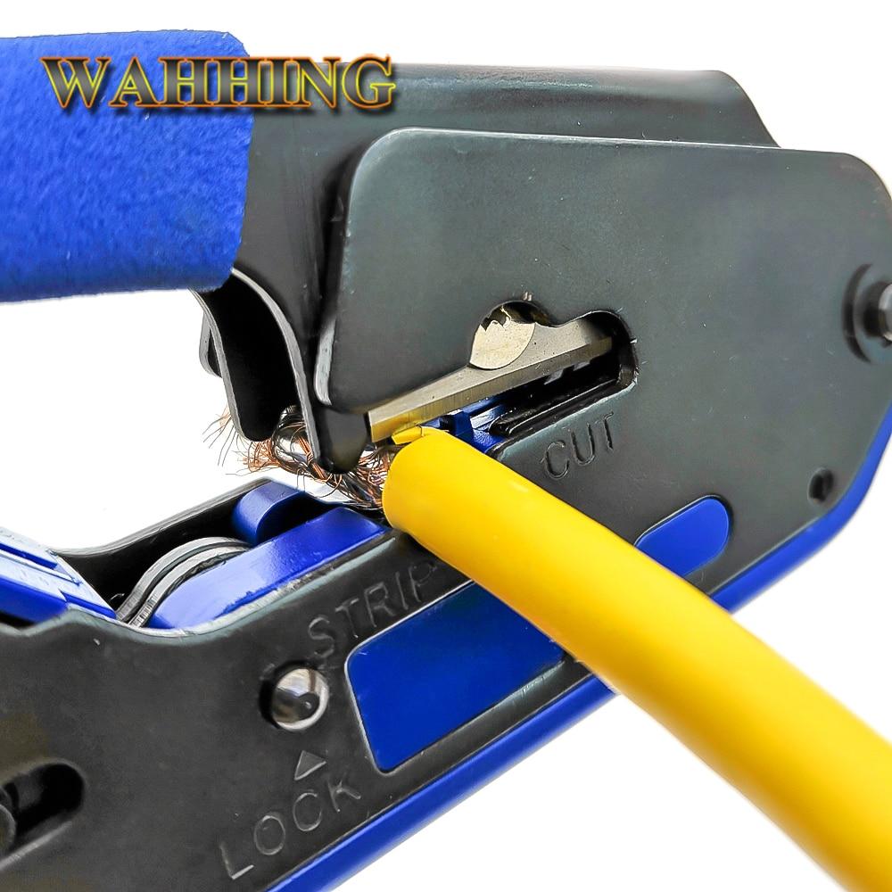 RJ45 Tool Network Crimper Crimping Tools Stripper Cuting Ethernet Cable Fit RJ45 Cat6 Cat5e Cat5 STP Plugs RJ45 Connector Cables