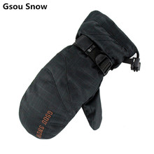 Gsou snow nieve guantes de snowboard de esquí guantes de invierno guantes de hombres guantes de esquí guantes ciclismo invierno guantes esqui handschoenen
