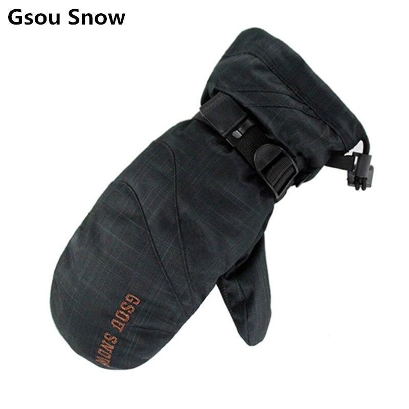 Prix pour Gsou snow hiver mitaines de ski de neige mitaines snowboard gants hommes ski gants guantes ciclismo invierno guantes esqui handschoenen