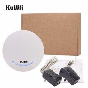 Image 4 - KuWfi 600 Mbps sans fil Point daccès plafond AP WIFI routeur 48 V POE double bande intérieure AP routeur WIFI répéteur WIFI Extender Signal