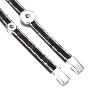 Image 5 - 10pcs/lot Snap Button Jewelry DIY 18mm Snap Buttons Bracelet Crystal Leather Magnet Bracelet Length 40CM Buttons Jewelry