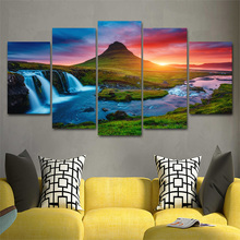 5pcs diy Diamond Painting Cross Stitch Beautiful Iceland Waterfall full square Diamond Mosaic beaded Embroidery Rhinestones H372 5pcs diy diamond painting cross stitch beautiful iceland waterfall full square diamond mosaic beaded embroidery rhinestones h372