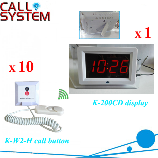 Portable Nursing Paging Caller System 1 Display Receiver 10 Transmitters for Hospital equipment