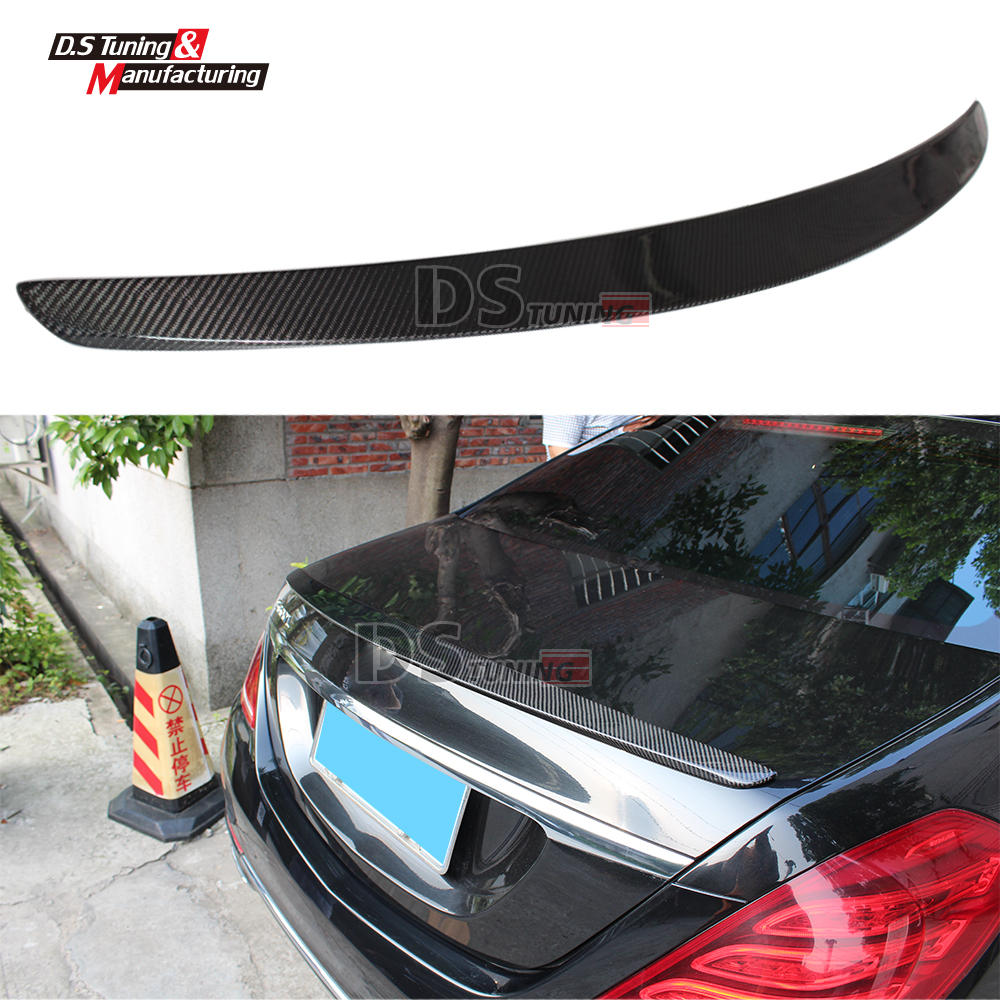 Mercedes W222 AMG Style Spoiler Carbon Fiber Spoiler For Benz E Class W222 2014+ Car-Styling Replacement Rear Trunk Spoiler Wing w204 c180 c200 c260 c300 carbon fiber car rear trunk lip spoiler wing for mercedes benz w204 c63 4 door 2008 2013 amg style